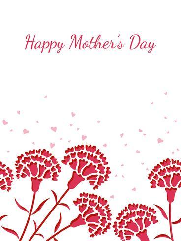 Illustrazione di sfondo vettoriale senza soluzione di continuità con lo spazio del testo per la festa della mamma.