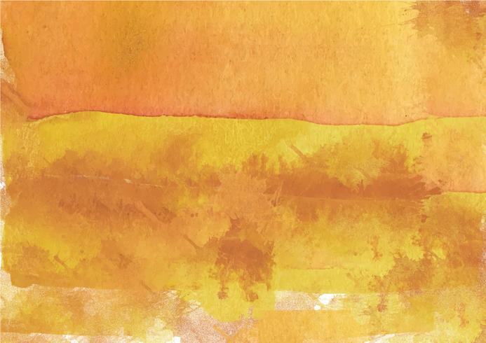 Sfondo acquerello dipinto a mano colorato. Pennellate di acquerello giallo. Struttura astratta dell'acquerello e sfondo per il design. Priorità bassa dell'acquerello su carta ruvida. vettore
