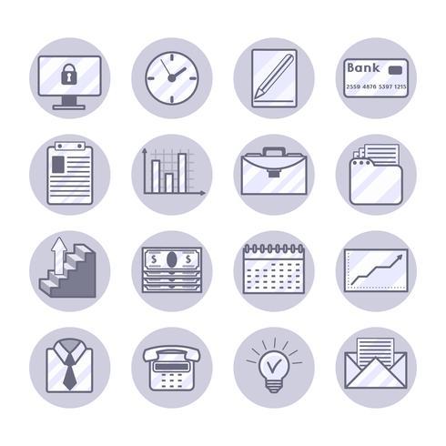 Set di icone di affari vettore