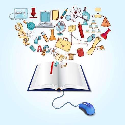 Concetto di educazione online vettore