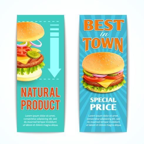 Set di banner fast food vettore