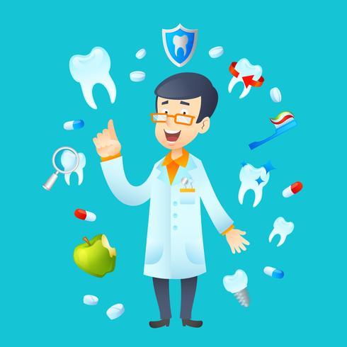 Illustrazione di concetto di odontoiatria vettore