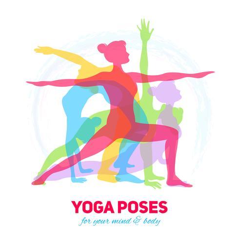 Concetto di fitness yoga vettore