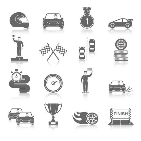 Set di icone di sport auto vettore