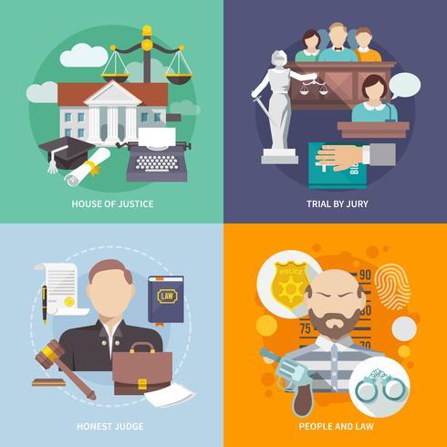 icona di legge piatta vettore