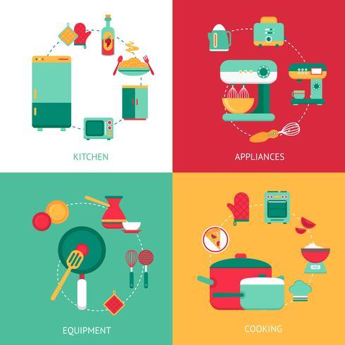 Concetto di design della cucina vettore