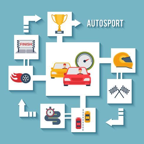Concetto di auto sportiva vettore