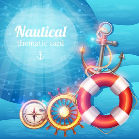 Sfondo di simboli marini vettore