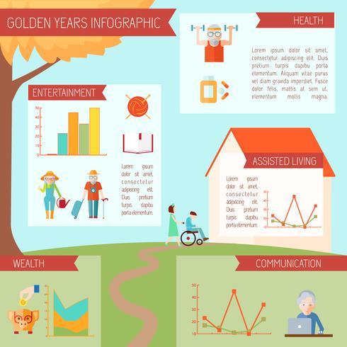 Infographics di stile di vita senior vettore