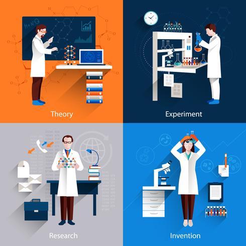 Set di icone di scienza vettore