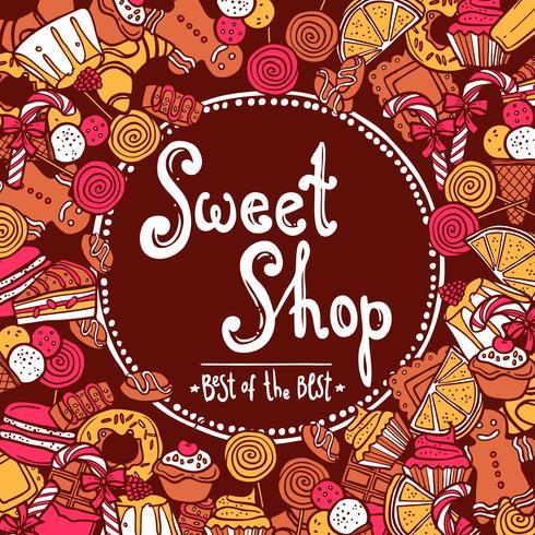 Sfondo di dolci negozi vettore