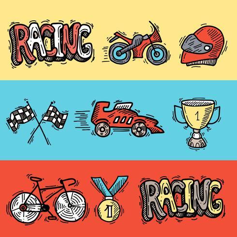 Set di bandiere da corsa vettore