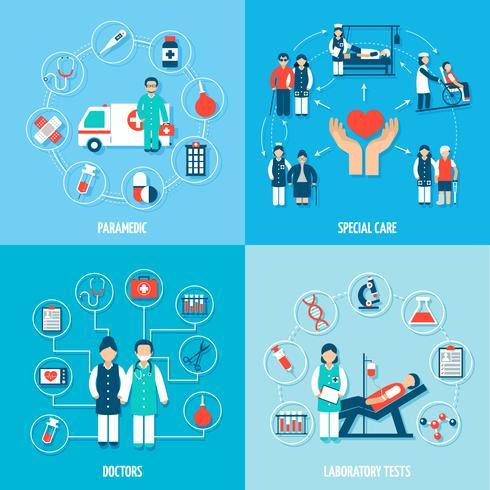 Set di personale medico vettore