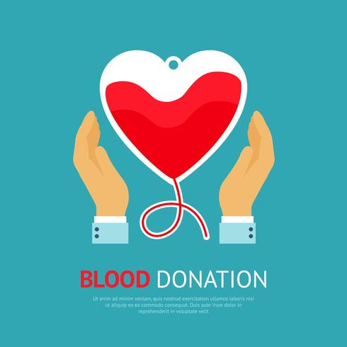 Poster di donazione di sangue vettore