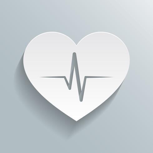 Icona della frequenza cardiaca vettore