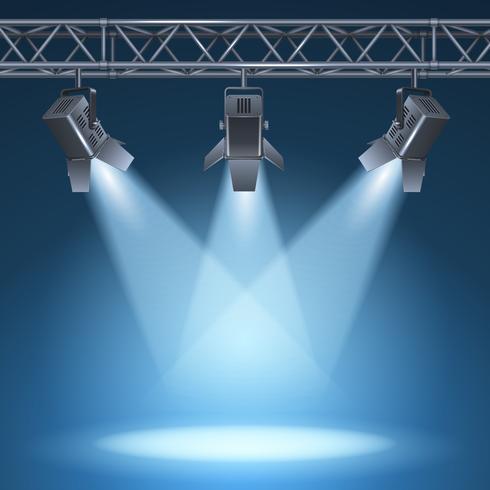 palco con luci vettore