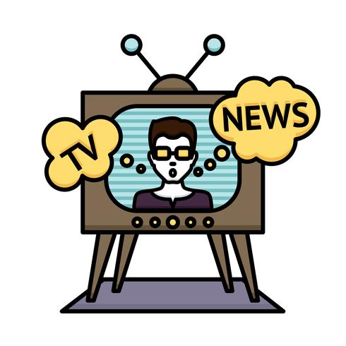 poster di notizie tv vettore