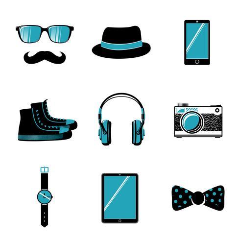 Collezione di articoli hipster vettore