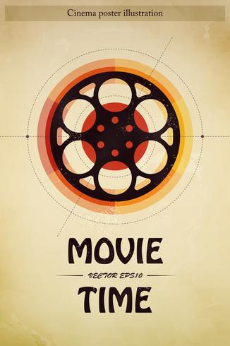 Illustrazione del manifesto del cinema vettore
