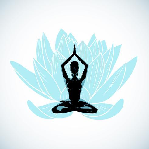 meditazione yoga vettore