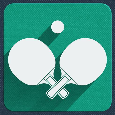 icona di ping-pong vettore