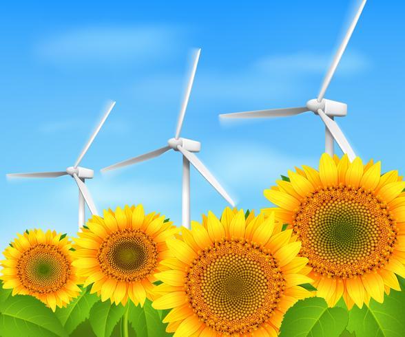 Sfondo di energia verde vettore
