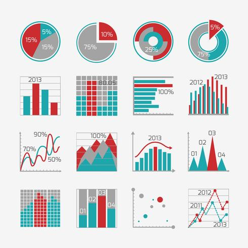 Elementi di infografica per report aziendali vettore