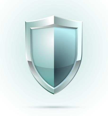 Icona di sicurezza scudo bianco vettore