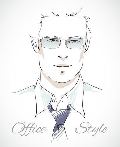 Ritratto elegante uomo d'affari vettore
