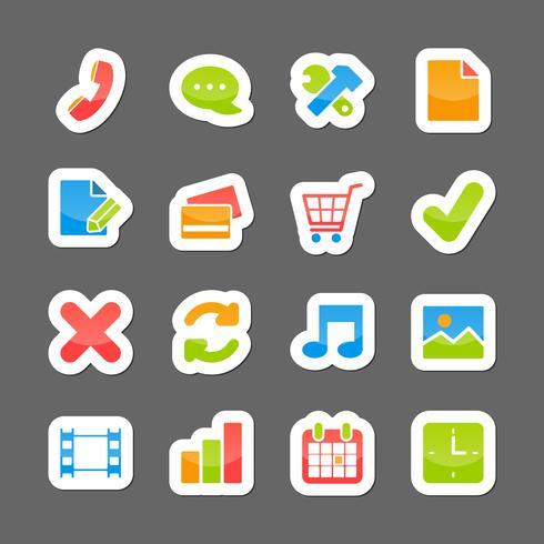 Elementi dell'interfaccia di layout di e-commerce vettore
