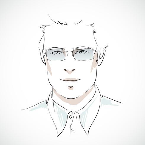 Ritratto di giovane uomo d'affari vettore