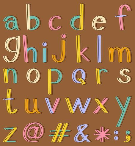 alfabeti vettore