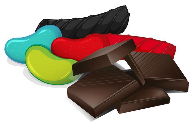 Un set di dolci vettore