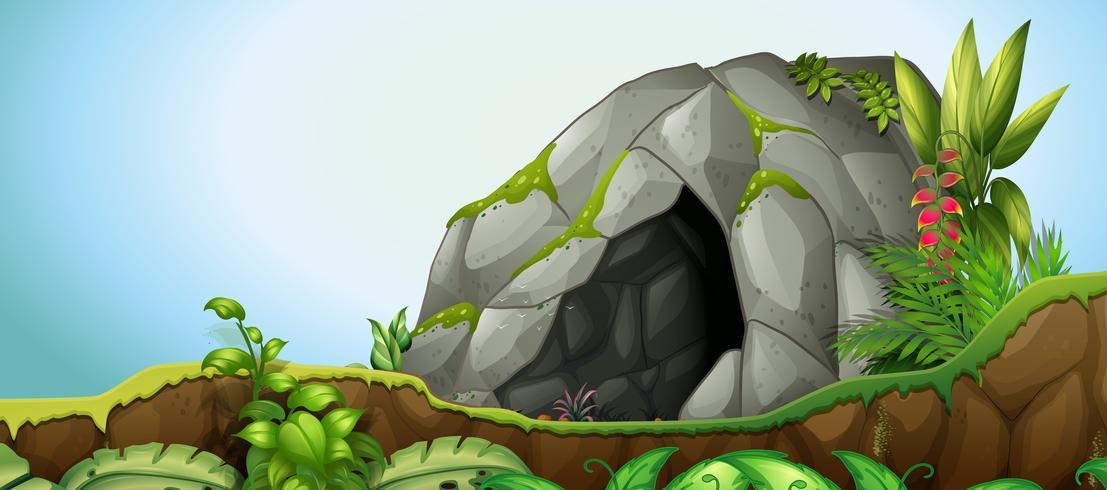 Una pietra della caverna nella priorità bassa della natura vettore
