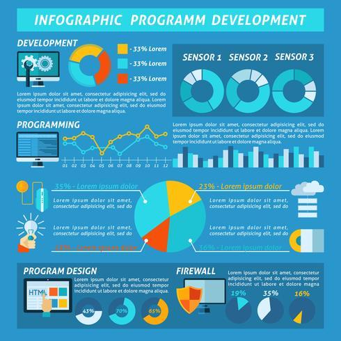Programma di sviluppo infografica vettore