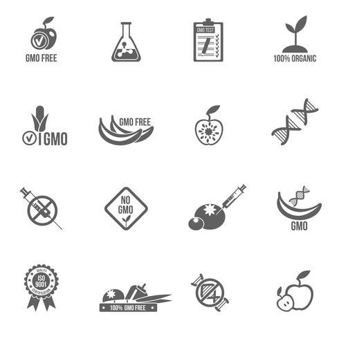 Set di icone OGM vettore