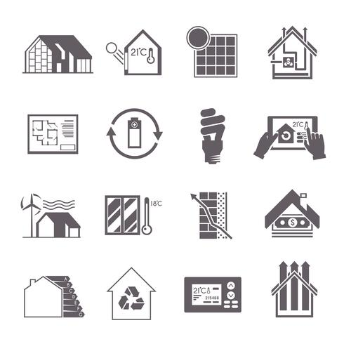 Icona della casa a risparmio energetico vettore