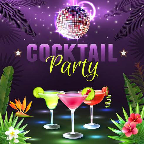poster del cocktail party vettore