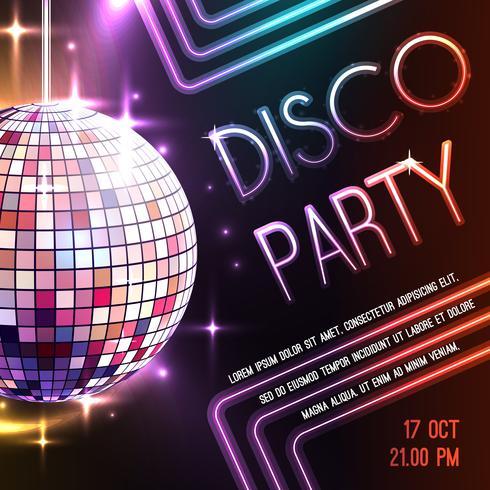 Manifesto festa in discoteca vettore