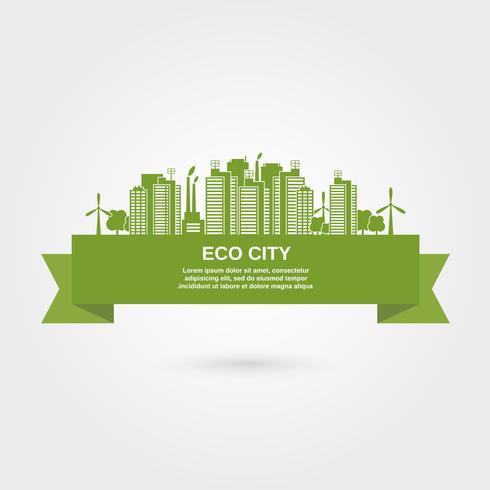 concetto di città eco vettore