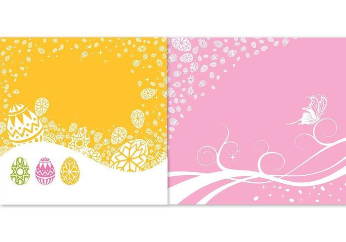 Pacchetto di Pasqua sfondo vettoriale