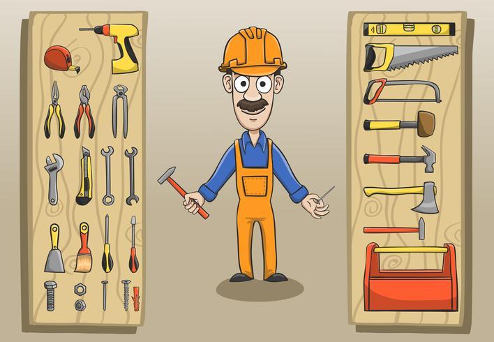Pacchetto di caratteri del muratore vettore
