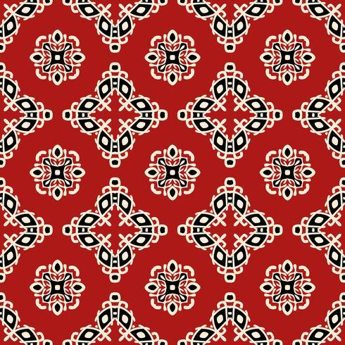 Modello senza cuciture etnico tribale rosso vettore