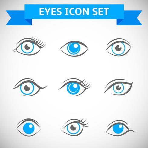 Set di icone di occhi vettore