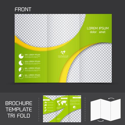 Modello di brochure ripiegato vettore