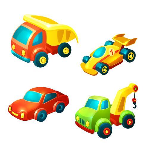 Set di giocattoli di trasporto vettore
