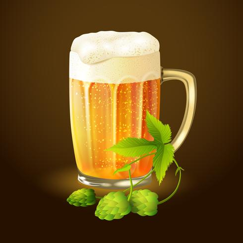 Sfondo di birra luppolo vettore