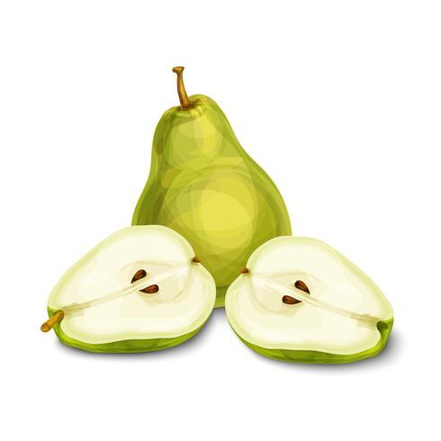 Frutta verde naturale pera biologica vettore