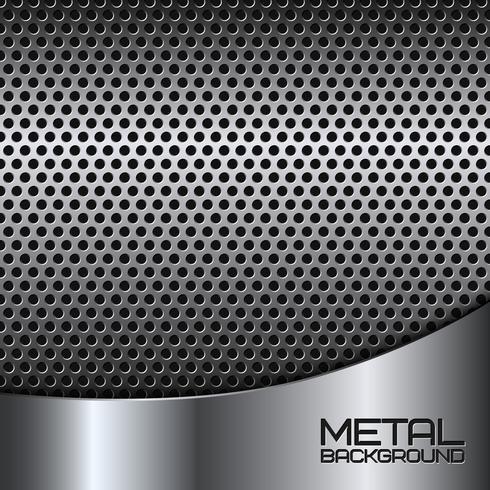 Priorità bassa astratta del metallo con perforazione vettore