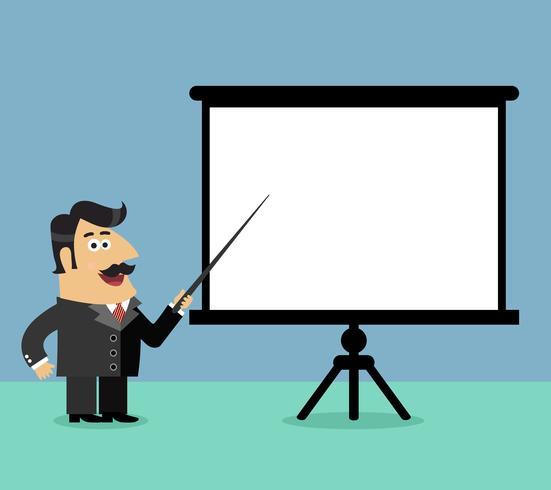Scena di presentazione aziendale vettore